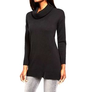 NY&CO Black Tunic Sweater with Cowl Neck Sz. Small